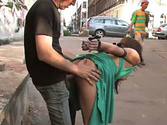 Perky tit dark brown girl sucks doused and fucks hard big load of shit