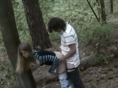 Hot bush-league gal receives drilled outdoors by dirty street ranger