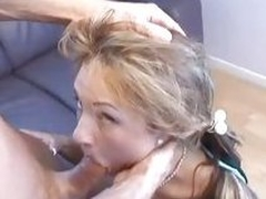 Amy Reid grabbed by head and throat fucked with cock