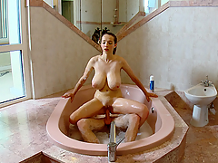 Large titted angel fucked in sexy jacuzzi