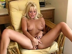 Sappy new chick is showing body and plays with sex-toy