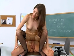 Pretty schoolgirl learns what a huge aged dick is like