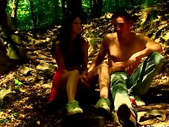 Forest becomes one more location for sex with a nasty legal age teenager playgirl