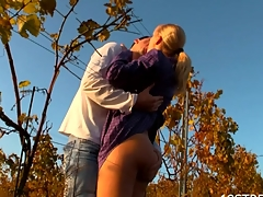 Doggy-style outdoors fucking enriches filthy legal age teenager with orgasms