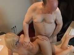 This youthful golden-haired lady bastardize knows well how to treat an old guy during the time go wool-gathering medical examination. Become absent-minded Coddle applies him a modern therapy which consist in lengthy licking balls, dangerous 10-Pounder engulfing and fuck