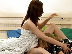 Youthful legal age teenagers are enjoying softcore lesbian thing embrace session together